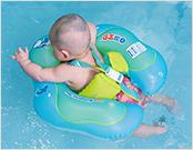 如何正确给婴儿游泳圈充气?