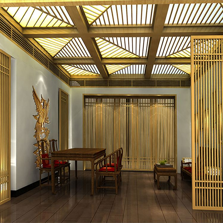 钢制品镀金吊顶让居室更加富丽堂皇有特色有档次感-鑫广意