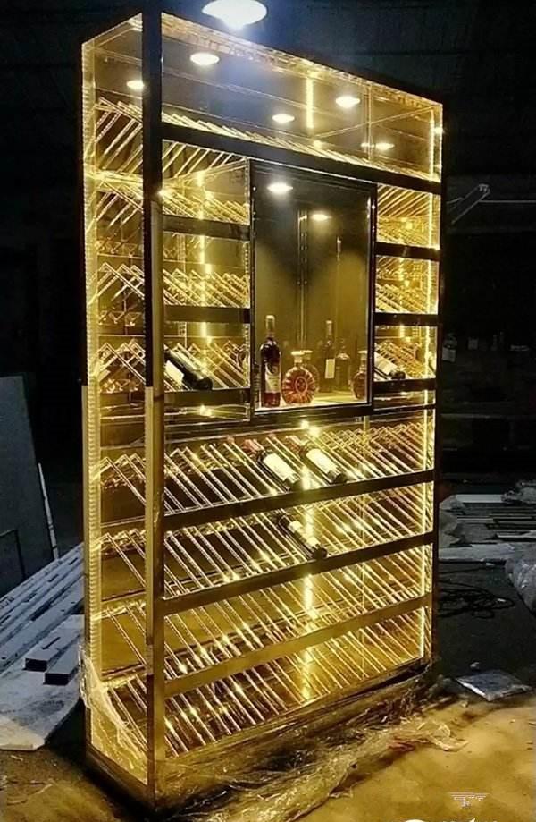 不锈钢制品酒柜dgxgy168精湛工艺独特创意提升空间的艺术品味展现浪漫和细腻之美