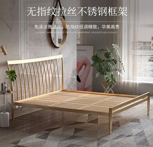 钢制大床XGY酒店双人床整体采用坚固不锈钢定做符合人体工程学一切以舒适为目标