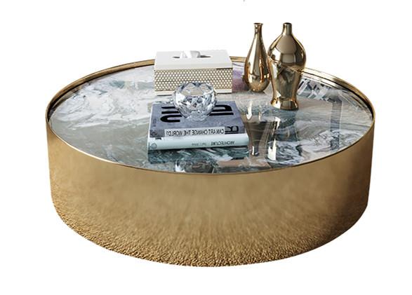 镀金不锈钢茶桌使用时间越长就越有高贵感和岁月的味道具有高端质感