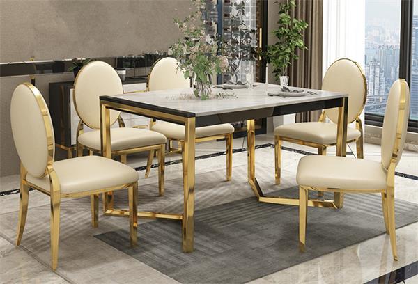 鑫广意不锈钢桌椅真空镀金有贵族气质是扮靓家居的重要角色
