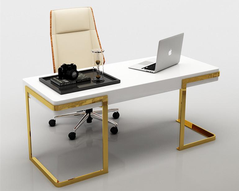 金属写字台质感高贵真空电镀看上去华丽昂贵