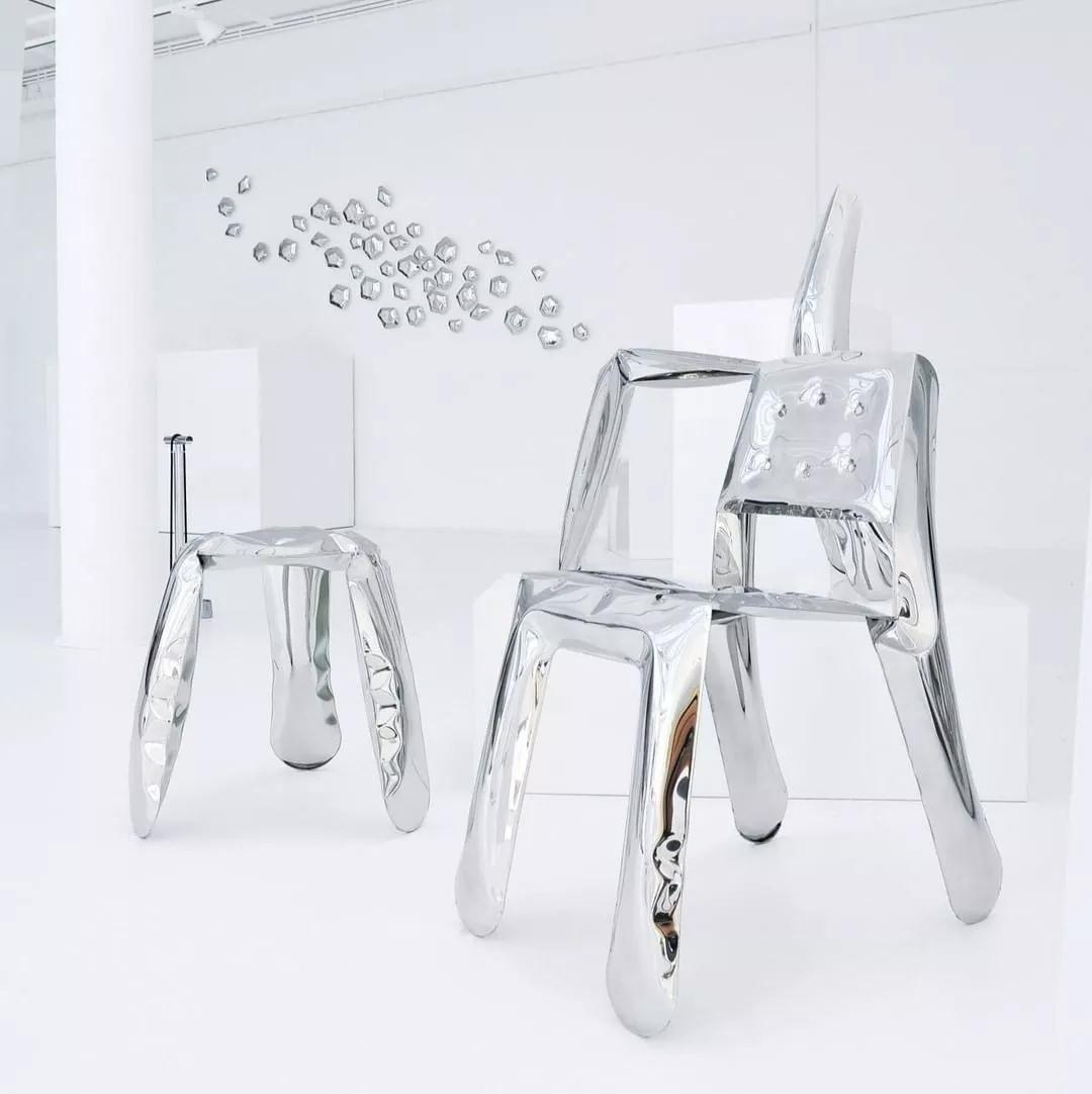 鑫广意卧室金属椅子书房桌椅为使用者服务之余一桌一椅之间透露艺术品般的存在