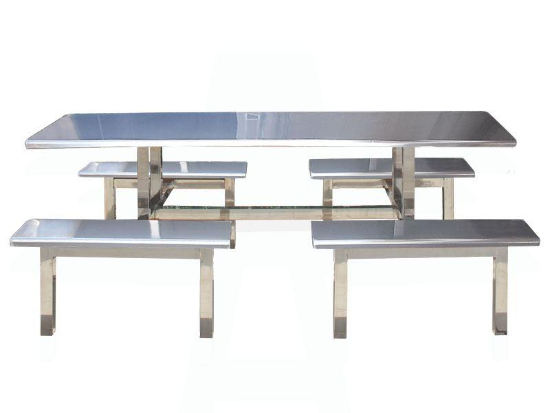不锈钢快餐桌椅【鑫广意】焊接打磨抛光品质极佳是毫无疑问的优质高档外贸产品