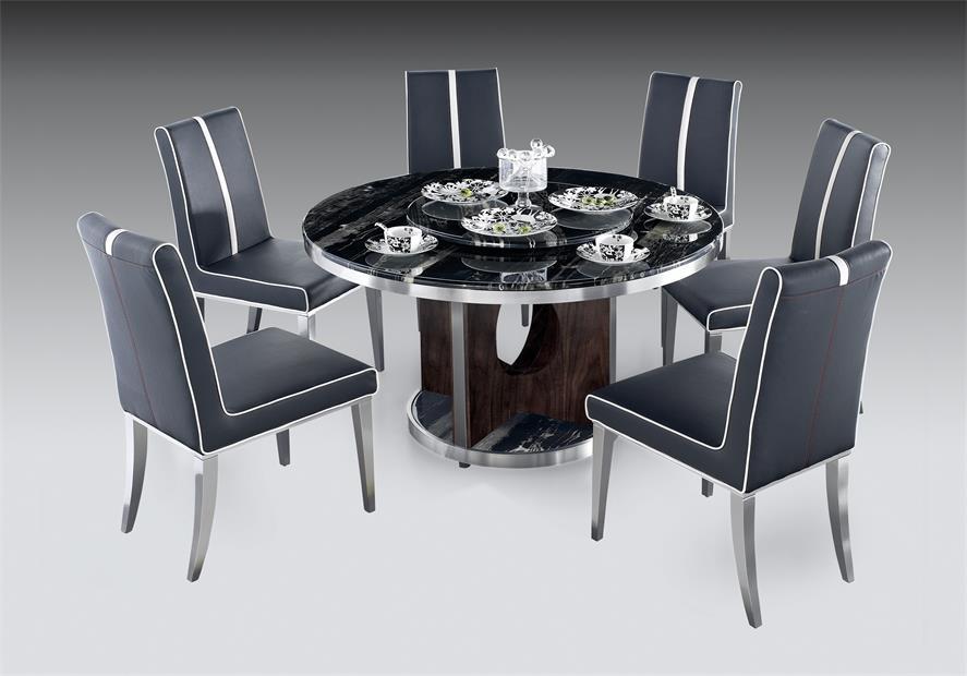 鑫广意不锈钢餐桌餐椅的线条以简洁利落为特征符合沉静自然的风格为室内带来独特个性