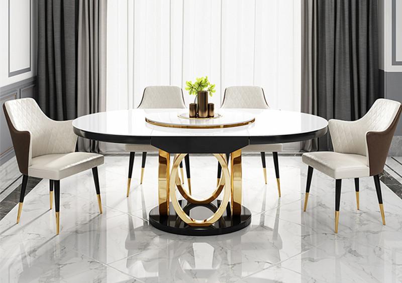鑫广意圆形餐桌不锈钢餐椅让空间处处洋溢着典雅古朴的浪漫情调在这样的餐厅里用餐是生活上的享受