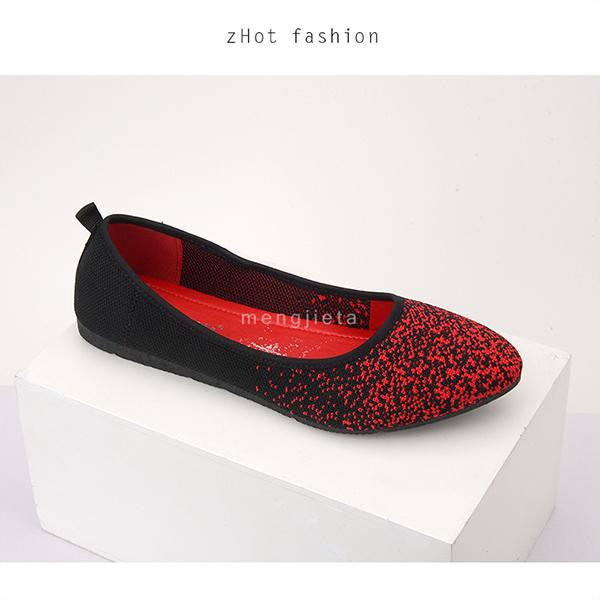 注塑飞织单鞋