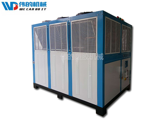 What are the reasons for the fan of the air-cooled chiller not running