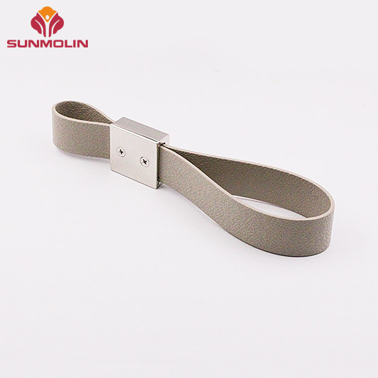 Fireproof tpu coated bus handle with zinc button