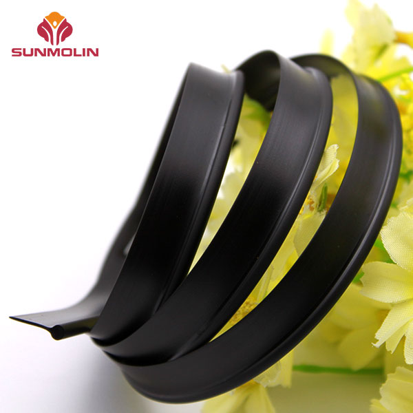 Black waterproof matte plastic piping welt cord