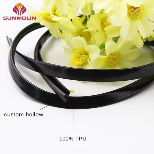 Special shape tpu  pvc plastic piping trim custom