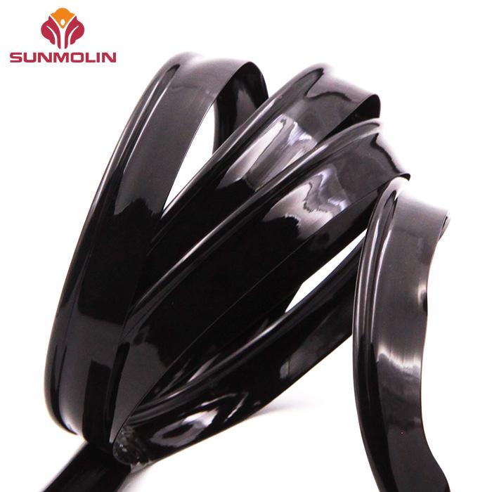 Black glossy plastic tpu  pvc piping cord tape manufacturer