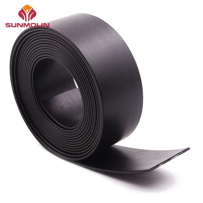 Black matte thin TPU  PVC coated webbing belt