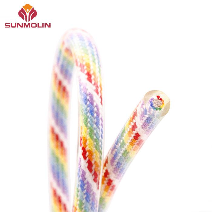 7.5mm colorful plastic coated rope cord for surf leash