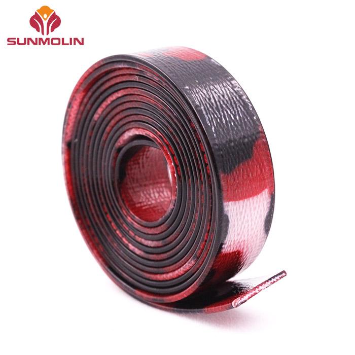 Camouflage red tpu / pvc coated nylon webbing
