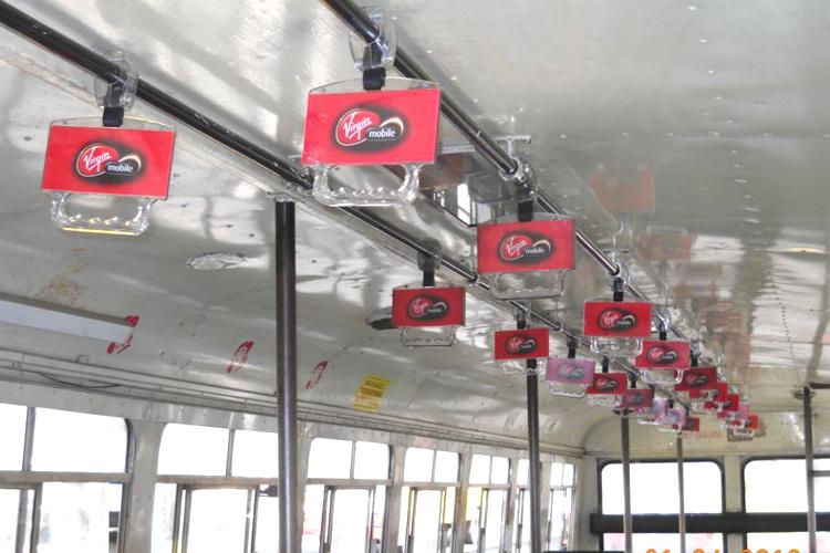 advertising bus handle