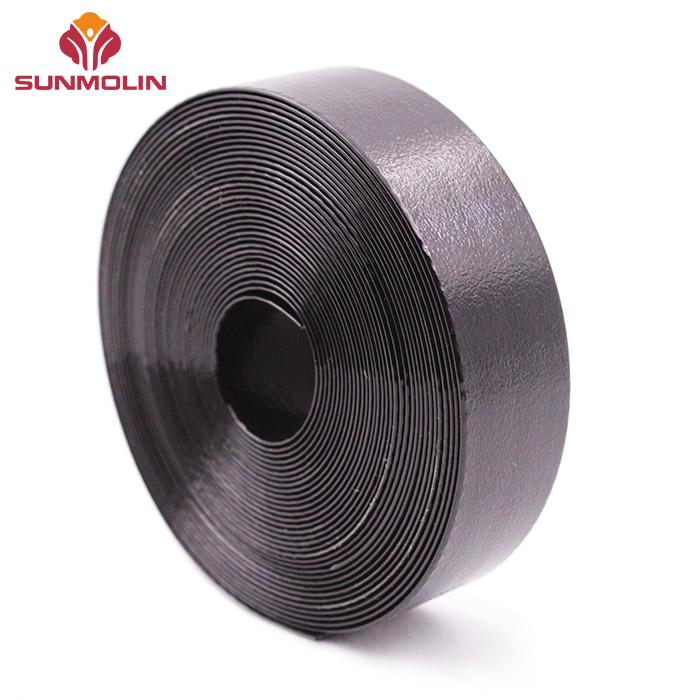 Black embossed TPU plastic coated webbing belt