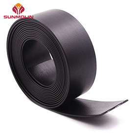 Black matte thin TPU  PVC coated webbing belt