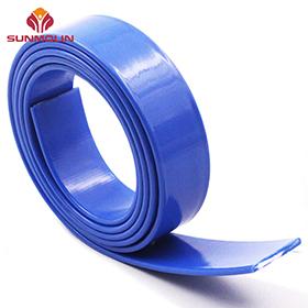 Solid blue PVC  TPU plastic coated strap webbing