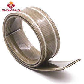 Custom special shape pvc / tpu coated strap