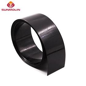 Ultra thin black TPU coated webbing for harness