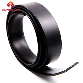 Black TPU coated weldable webbing