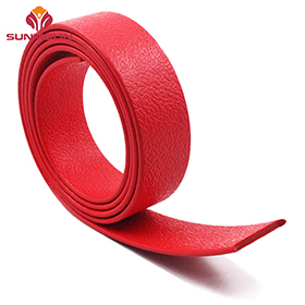 Red fireproof tpu plastic coated webbing strap