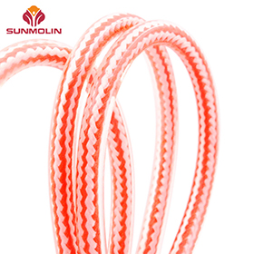 7.5mm Orange waterproof TPU plastic coated rope