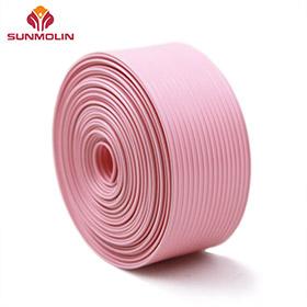 Solid pink pvc / tpu webbing strap