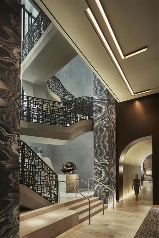 酒店不锈钢楼梯