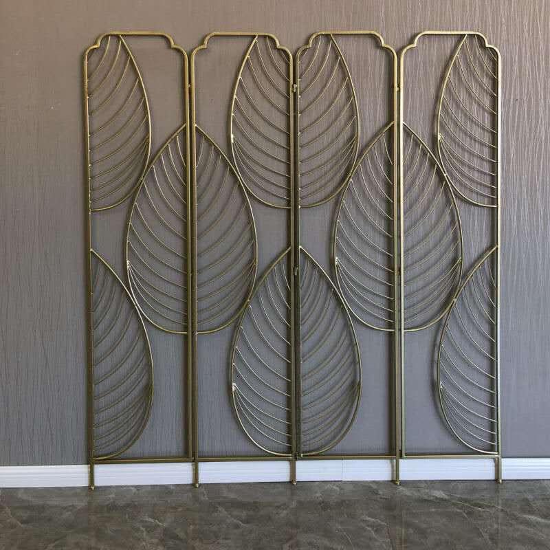 折叠屏风鑫广意直立屏风用好手艺打造成树叶图案的绝美五金屏风装饰品
