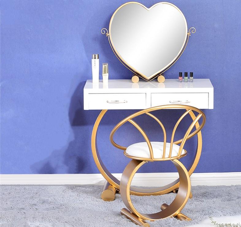 定做不锈钢梳妆台找鑫广意家具厂家设计独特的化妆桌椅一定会吸引到品味不俗的你