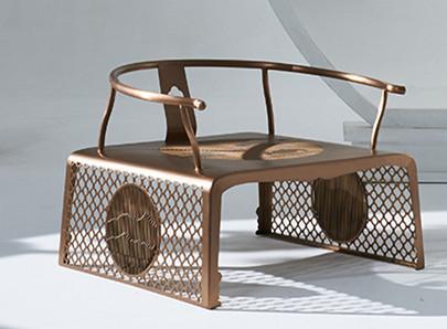 鑫广意品牌金属扶手椅等仿古家具定制富有浓郁的中国禅意古典家具不失现代简约的气息