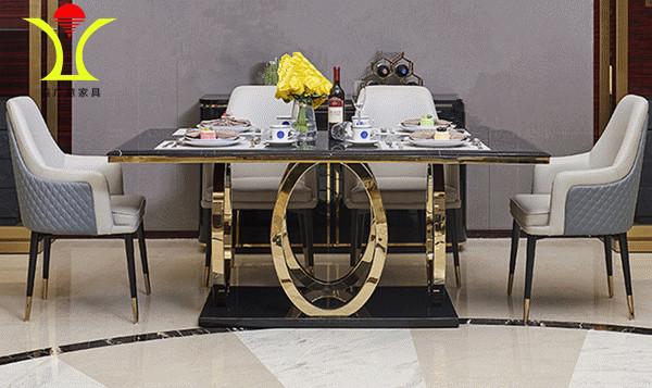 不锈钢西餐桌经过严格品控强调为消费者创造健康便利的体验-鑫广意
