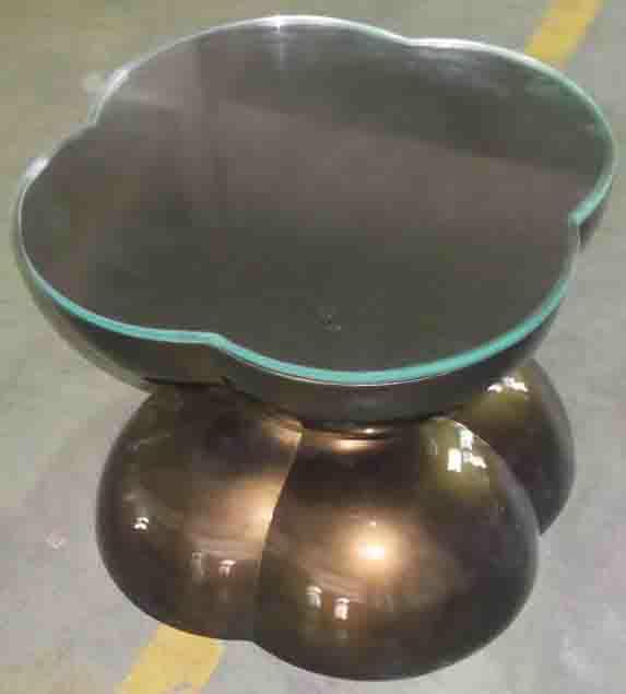 不锈钢茶几镀金小茶桌精湛工艺瞬间提升格调-鑫广意茶几生产厂