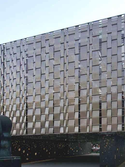 金属幕墙优质钢板制造使用寿命持久防护抗冲击能力极佳-鑫广意