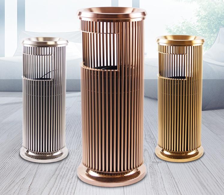 宾馆垃圾桶每一个制作环节均注重精工制作,鑫广意不锈钢制品值得信赖