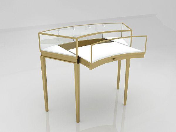 金属珠宝首饰柜台【鑫广意】设计师一对一策划整体风格,彰显极具营销性的奢华销售空间