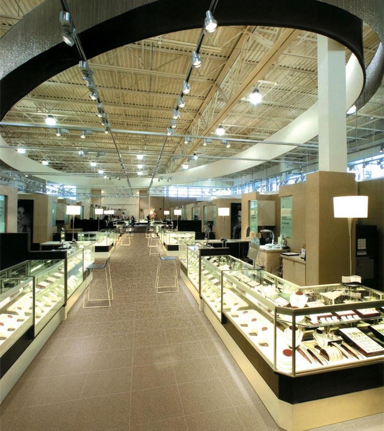 商場展示柜【鑫廣意】五金框架與鋼化玻璃組合打造夢幻購物環境安保系數高裝飾功能明顯