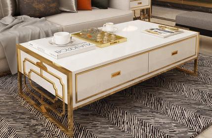 创意金属茶几【鑫广意】五金桌子视觉效果现代前卫吸引力十足放在家里却很有品位
