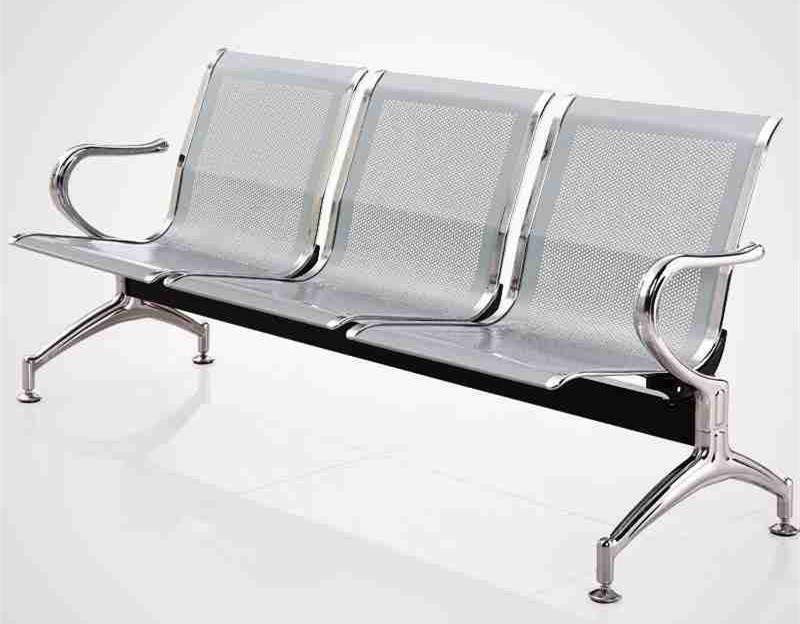 金属排椅3人椅子适合露天场所鑫广意家具座椅耐风吹雨淋和阳光暴晒耐的起大自然侵袭