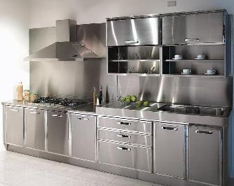金属橱柜[鑫广意]没有缝隙不容易变色变旧不容易留下污垢安全环保性强