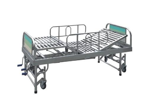 醫用家具不銹鋼護理床結實穩固方便收納外形美觀裝卸自如抗沖擊性耐熱性好-鑫廣意