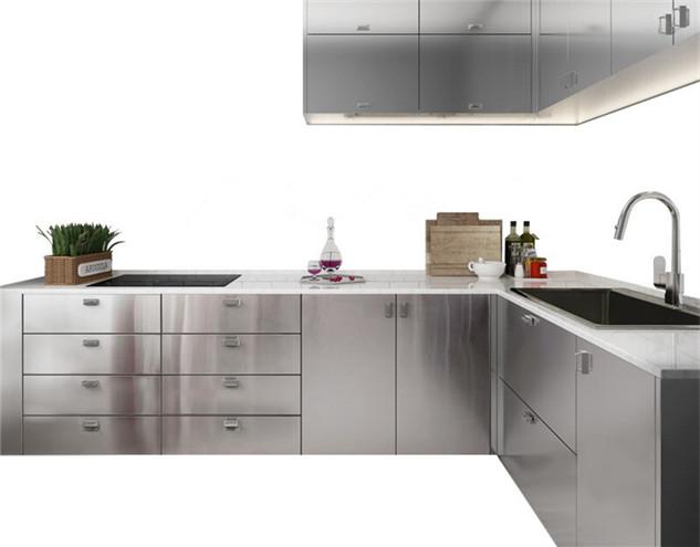 鑫广意金属厨柜经得住油烟高温潮湿水渍等不良的厨房环境