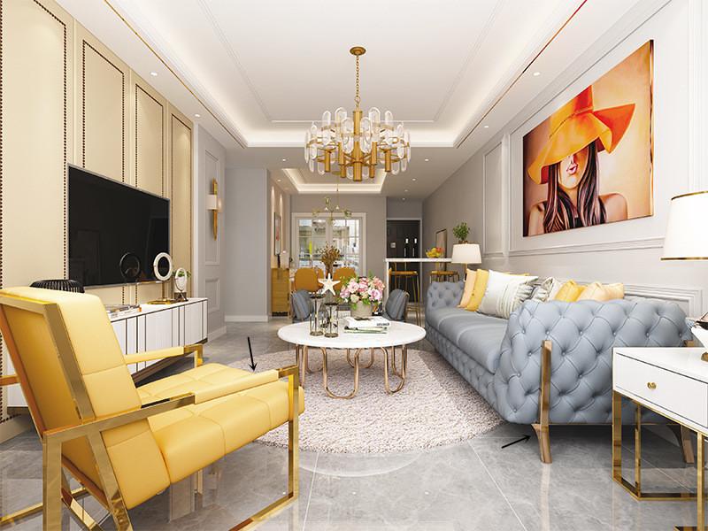 鑫广意金属家具茶几设计源于极简主义的原则用艺术表达了对世界的审美眼光