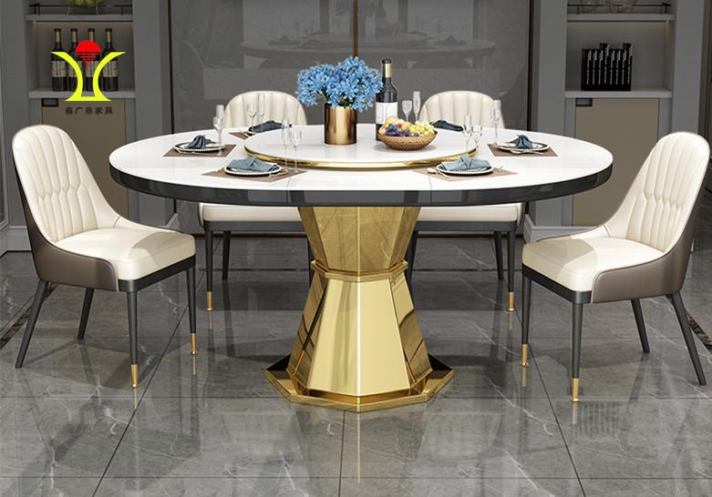 不锈钢家具与玻璃布艺等元素相结合不仅实用功能强也更有时尚的味道-鑫广意