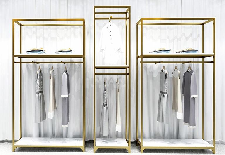 不銹鋼展示架柜{鑫廣意}采用電鍍工藝可以制作各種紋理和顏色看上去極其溫馨溫潤