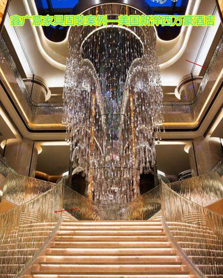 鑫广意金属楼梯厂设计制作追求的重点境界就是新颖造型形体充满设计美感和现代气息