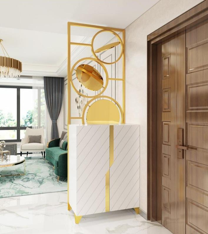 酒店金属屏风装饰满足现代都市消费诉求展现空间形式与生活形态的崭新姿态